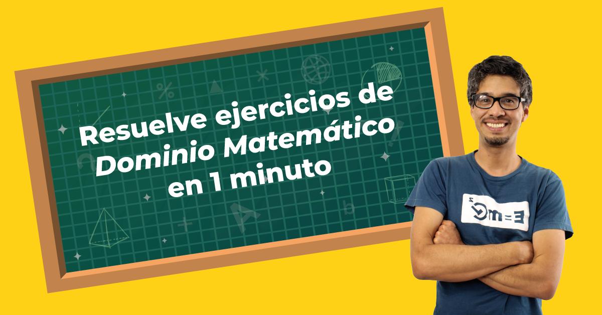 Resuelve ejercicios Ser Bachiller de Dominio Matemático en menos de un minuto